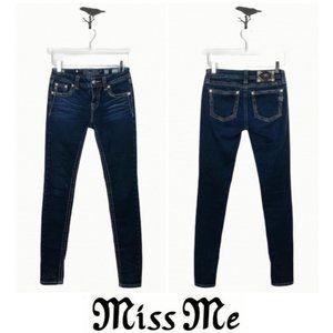 Miss Me Dark Wash Mid-Rise Skinny Jeans Size 25